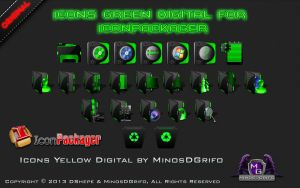 Icons Green Digital for Iconpackager by DShepe