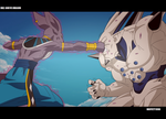 DBZ God VS Dragon by Moffett1990