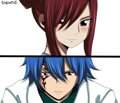 Erza y Jellal Fairy Tail Manga 545 by RogueFull