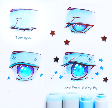 +Your Eyes like Starry Sky+ by larienne