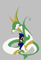 Xion with Snivy and Serperior by Leo-Base-Maker