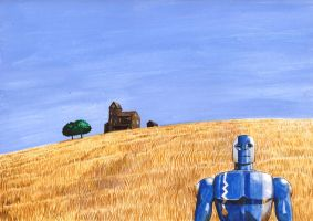 Robot in a landscape by Nick-Perks