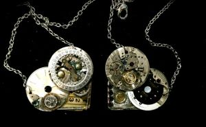 Steampunk Heart Pair by Lucky978