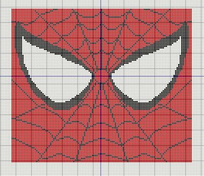 Spiderman Extreme Close Up Cross stitch design by KitsuneGemma