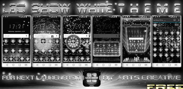 Free! Next Launcher 3D Led Show White by ArtsCreativeGroup