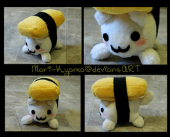 Puffy Sushi Cat Plush by Mari-Kyomo