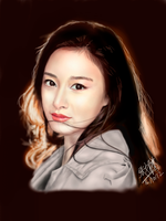 iPad finger painting of Korean Actress Kim Tae Hee by chaseroflight