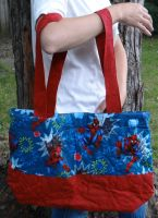 Spiderman quilted bag by quiltoni