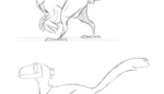 Dinosaur character animation tests by Finchwing