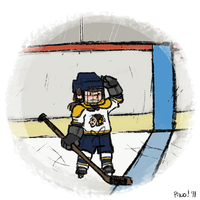 Little hockey player by ph00