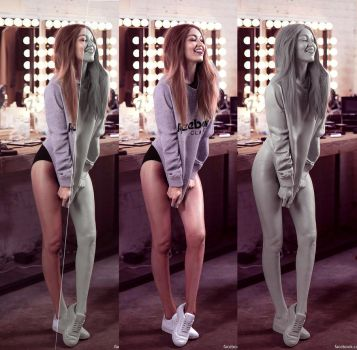 gigiHadid 3D portrait_All3 by AldoMartinezC