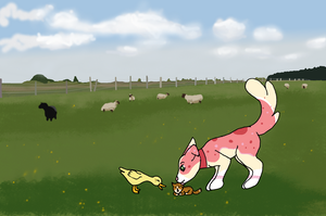 Welcome to my farm, little one by moonlightwalk
