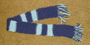 Dark and Light Blue Baby Scarf by LilithsSmile