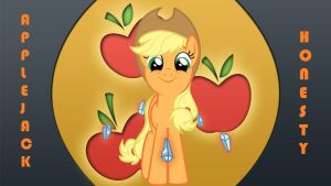 Wallpaper of Honest Applejack by Barrfind