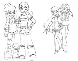 himeko and april sketch by WolffangComics
