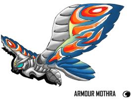 Godzilla Animated:Armor mothra by Blabyloo229