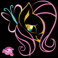 Stylised Fluttershy by atnezau