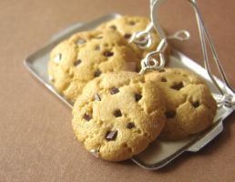 Cookie Dangle Earrings by PetitPlat