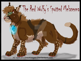 Red Wolfy's Melaserma by DracKeagan