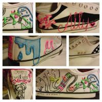 custom shoes- ally's scene by izy-billie