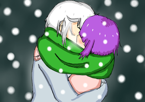 MH: kissu under the scarf ~ by MiyuKyuu