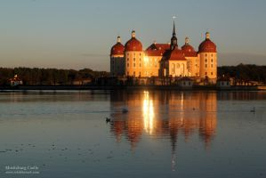 Moritzburg Castle Evening Sun by wiebkerost