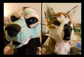 Fursuit challenge: Husky WIP by Sharpe19