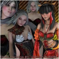 Stock Package #3 - Crimson Butterfly by LadyXiahou