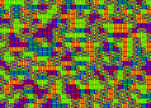 Psychadelic Wang Tiling by Ian-Parberry