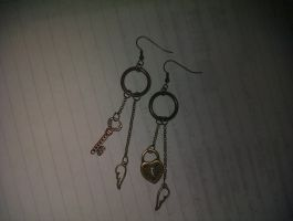Lock and Key Earrings by Angel-Lithium
