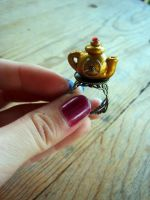 Steampunk Teapot Ring by PunkTrunk