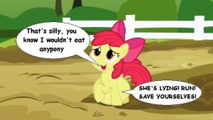 Apple Bloom ate somepony by VoreEditer