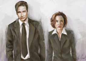 Mulder n Scully by chunkymacaroni