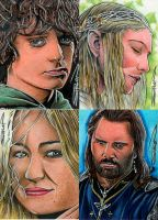 Random LOTR Sketch Cards 3.0 by RandySiplon