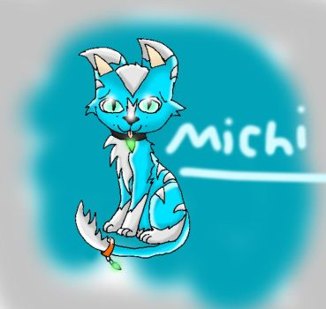 Michi The Blue Tabby Cat By Missplume1 by magikplume