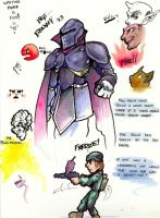 Water Color and Ink Doodles by mastermatt111
