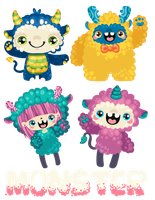 monster charms QuQ by Miss-Glitter
