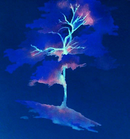Inverted Tree Watercolour by SqueezeBoxx