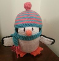 Penguin (pink, blue) by shadow-bahar