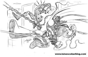 Spiderman Versus Batman by LuisEscobar