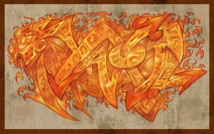Graffitis - Yaotl by HecM