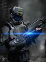 ODST Halo 4 Battle Rifle 2 by CpCody