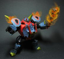 TFA Snarl in flames by Tformer