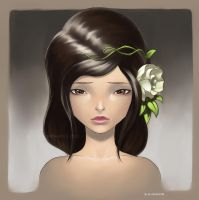 FLOWER_GIRL_Artjam by totmoartsstudio2