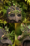 Mossy Mask with Snail companion by Nymla
