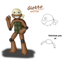 TMNT OC: Giotto by MaryThaCake
