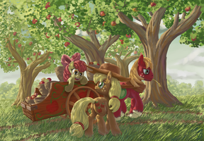 Apple Pickin' by MoreVespenegas