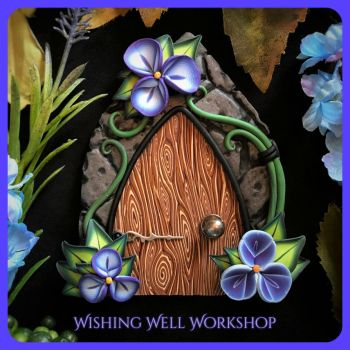 Polymer Clay Periwinkle Fairy Door by missfinearts
