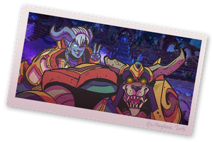 Starkor and Yrel, best of buddies! by SupaCrikeyDave