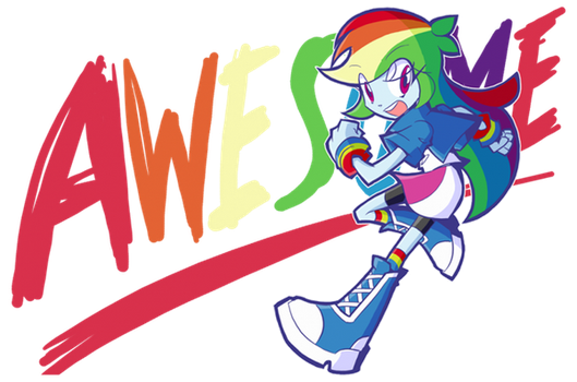 Rainbow Dash - Awesome by rvceric
